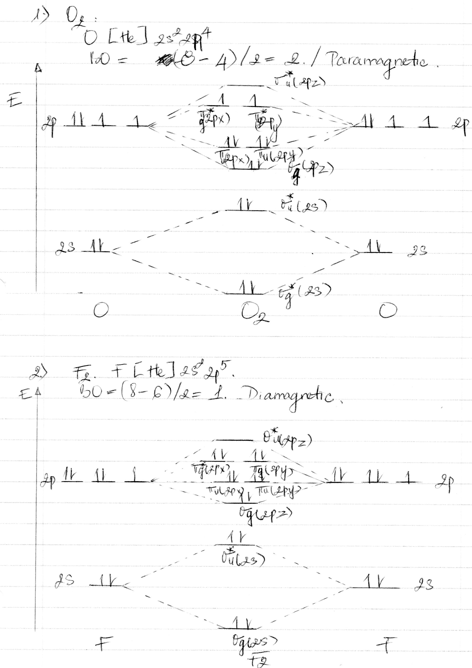 Why O2 Is Paramagnetic While F2 Is Diamagnetic Explain These With Molecular Orbital Diagram Ask To Lecturenotes